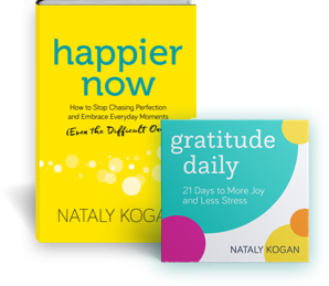 photo of Nataly Kogan's book, Happier Now